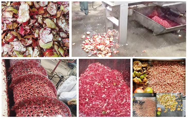 pomegrante peeling machine