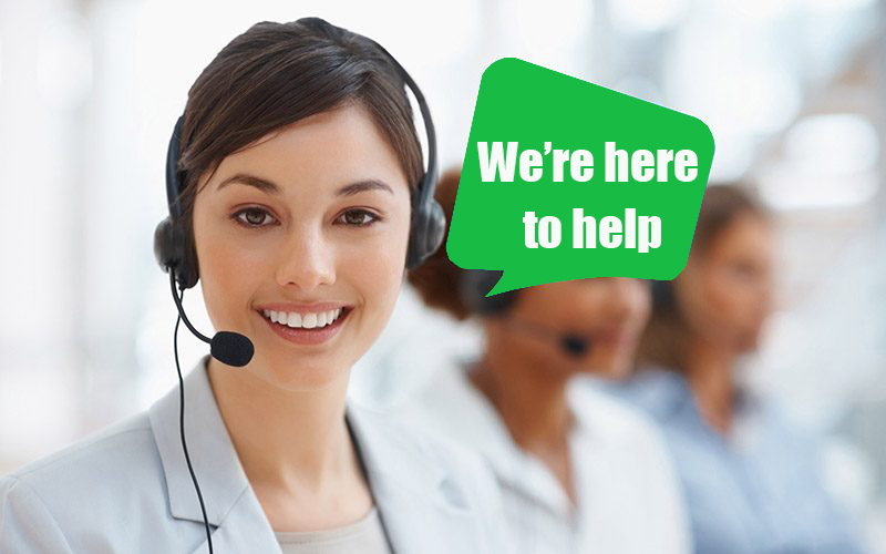 We are here to help!!