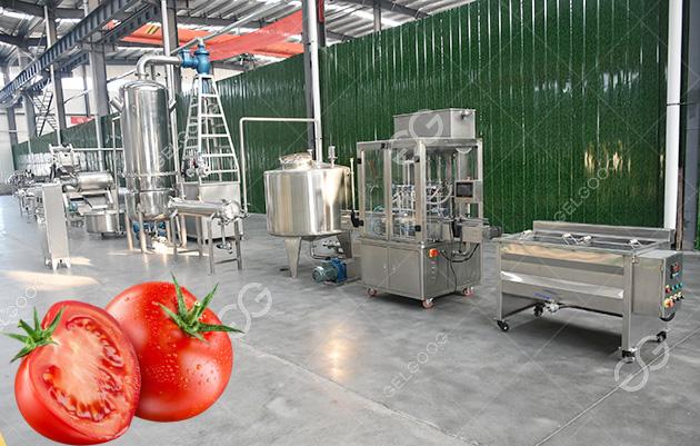 tomato sauce production line