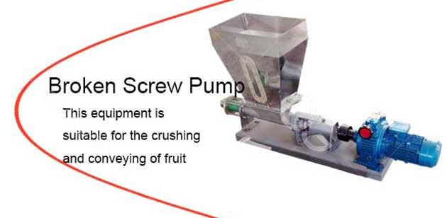 Tomato broken screw pump