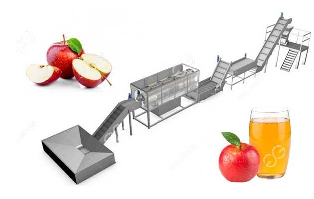 Automatic Apple Juice Production Line For Fruit Juice Porcessing