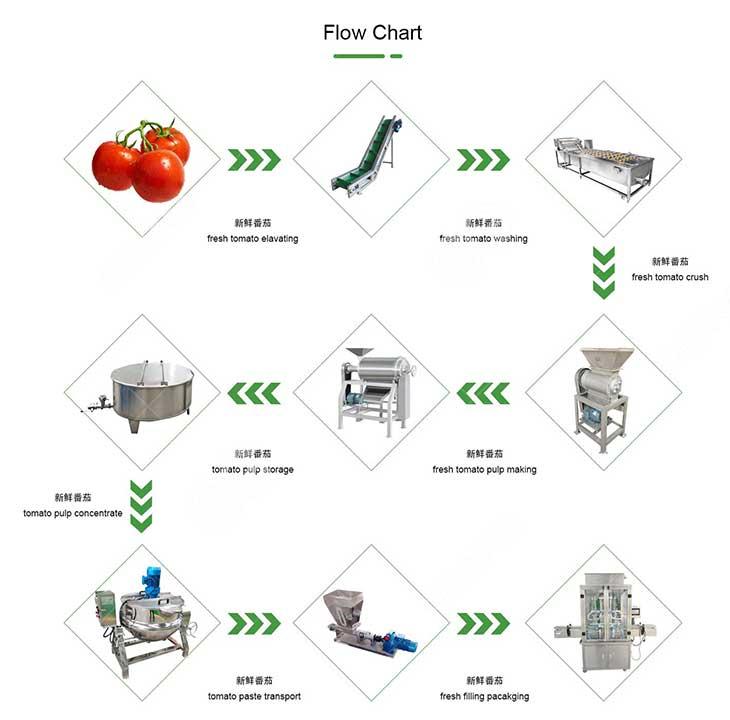 tomato paste production line flow-chart