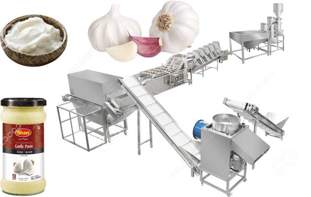 150KG /h Garlic Paste Processing Line For Dried Garlic