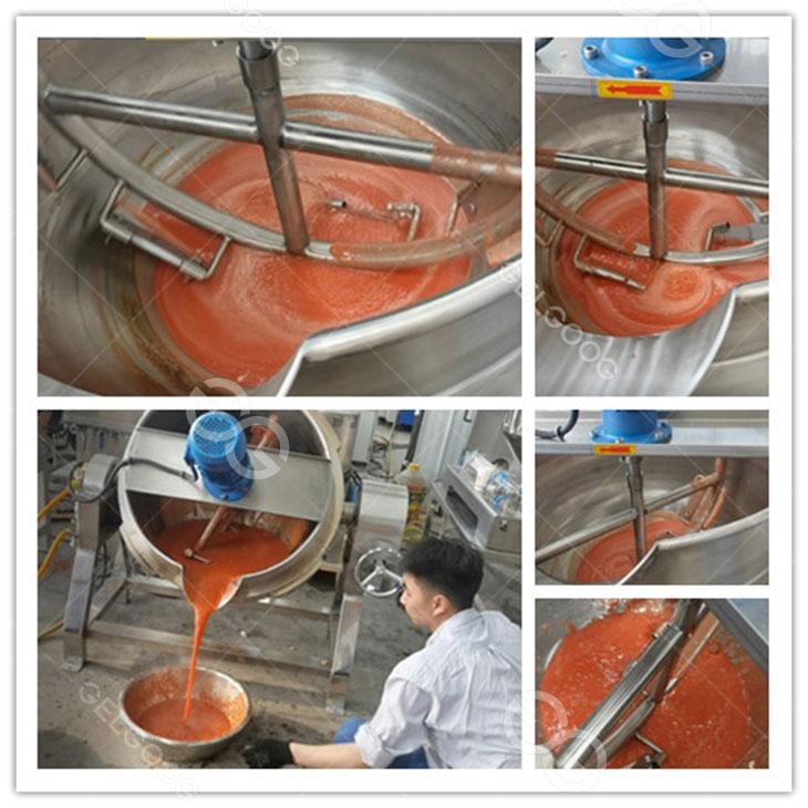 tomato paste cooking pot
