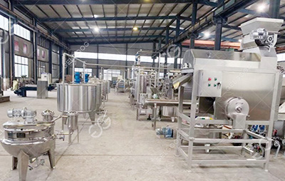 Small scale passion fruit juice processing line in Uganda
