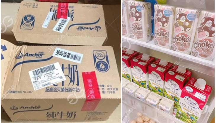 UHT Milk packaging