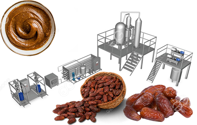 Date Palm Paste Production Line For 500kg/h Dried Dates Processing
