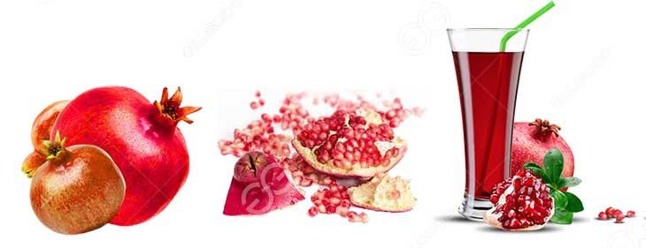 How to make pomegranate juice from fresh pomegranates?