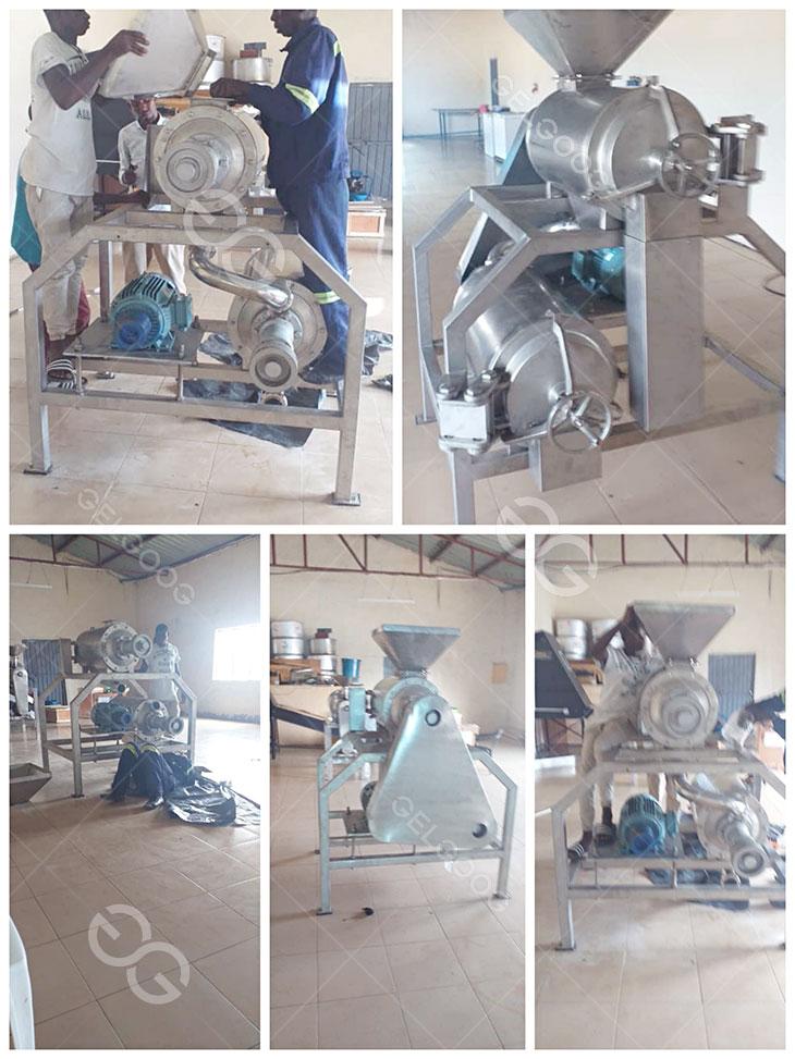 mango pulp machine feedback form our Zambia customer
