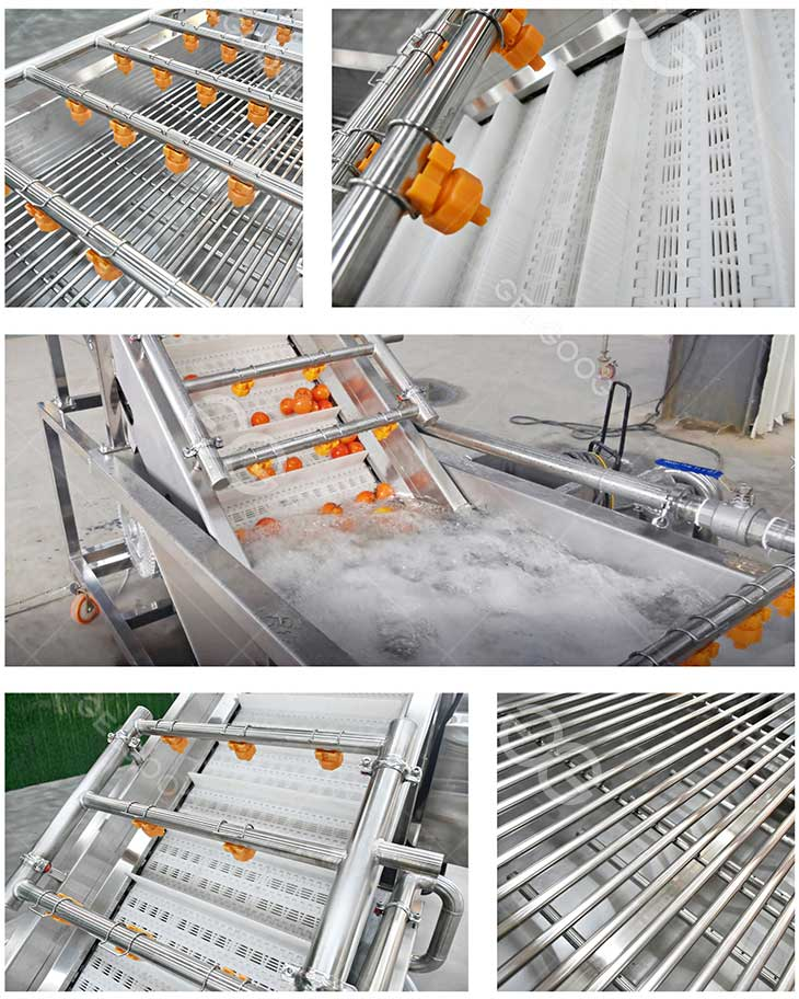 tomato washing machine details in our factory