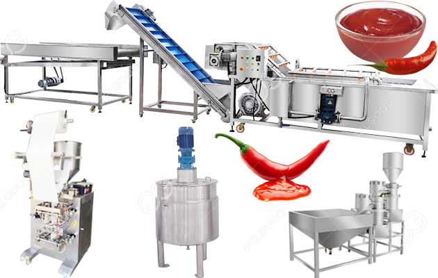 Commercial Hot Chili Sauce Manufacturing Production Equipment