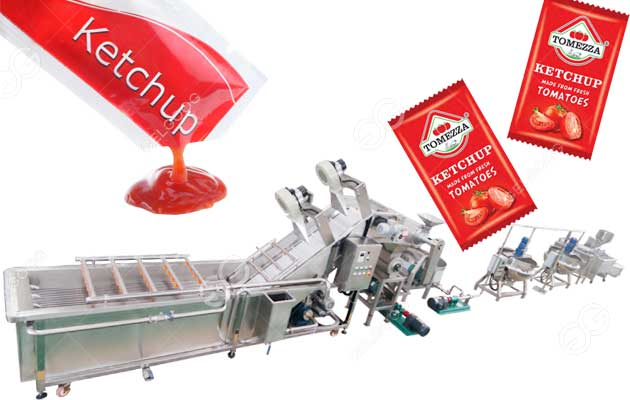 Small Scale Sachet Tomato Ketchup Sauce Processing Plant