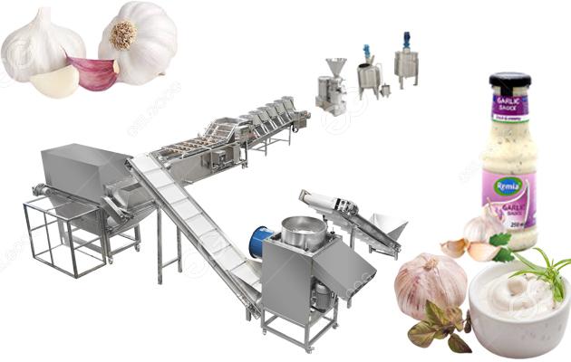 Automatic Garlic Paste Making Machine Sauce Processing Line