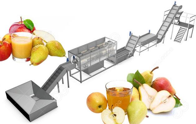 apple juice processing line